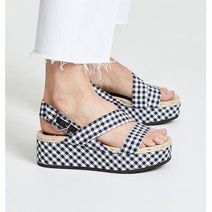 Rag & bone Megan gingham platform sandals Size 8